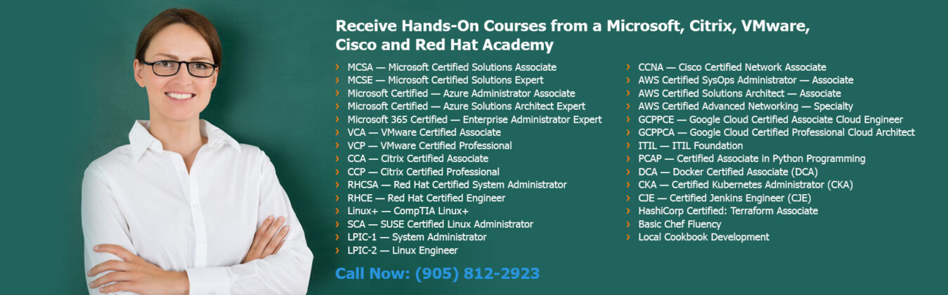 Hands-on Courses from Microsoft, Citrix, VMware, Cisco, and Red Hat Academy